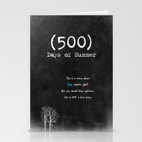500 days of summer Stationery Cards featuring 500 Days of Summer by DrøpDeadRian
