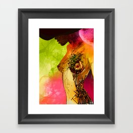 Woman. Complicated  Framed Art Print