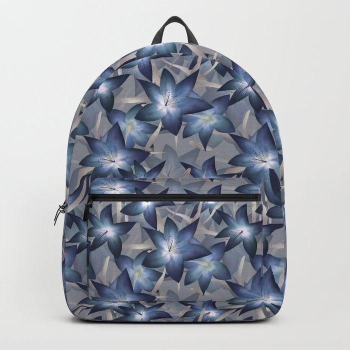 Blue lilies. Lily Backpack