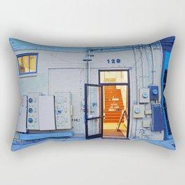 Artist Building Rectangular Pillow