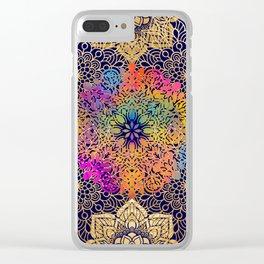 Bohemian 1960's Mandala Pattern of Joy Clear iPhone Case