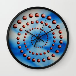 Spiral reincarnation oil painting Wall Clock