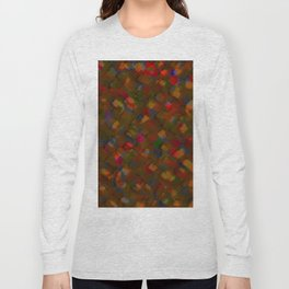 Abstract Paint Strokes - Browns and Reds Long Sleeve T-shirt