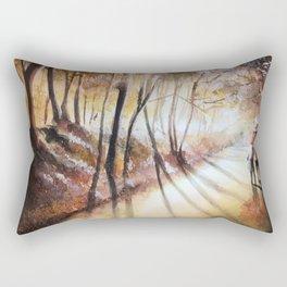 Break in the clouds - watercolor Rectangular Pillow