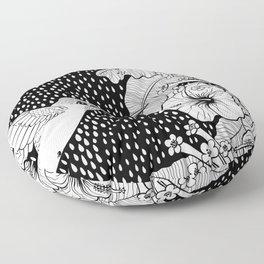 Hummingbird garden Floor Pillow