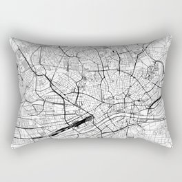 Frankfurt White Map Rectangular Pillow
