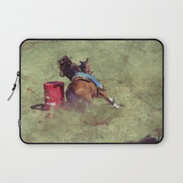 The Barrel Racer - Rodeo Horse and Rider Laptop Sleeve