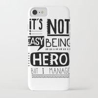hero iPhone & iPod Cases featuring hero by ulas okuyucu