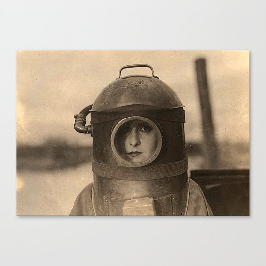 Scaphandre vintage photo Canvas Print