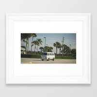 vw bus Framed Art Prints featuring VW Bus by Tyler Vespa