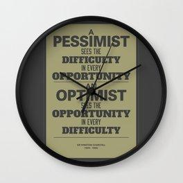 Pessimist / Optimist Wall Clock