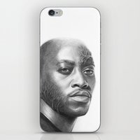 house md iPhone & iPod Skins featuring Dr. Foreman-House MD-Omar Epps-Portrait by Olechka