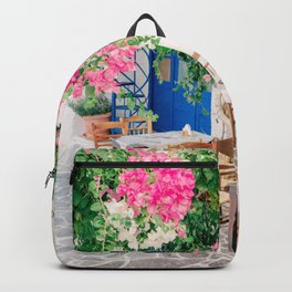 Milos 0017: Bougainville, Plaka, Milos, Greece Backpack