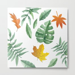 green leaf with pillow Metal Print