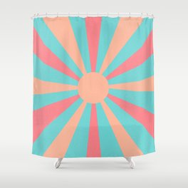pink and peach sunshine Shower Curtain