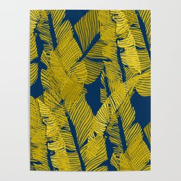Carved Yellow&Blue Jungle #society6 #decor #buyart Poster