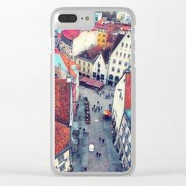 Tallinn art 6 #tallinn #city Clear iPhone Case