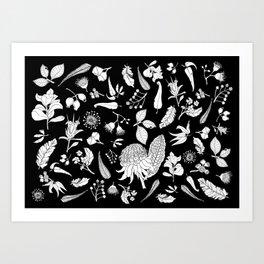 Native Australian Botanics Art Print