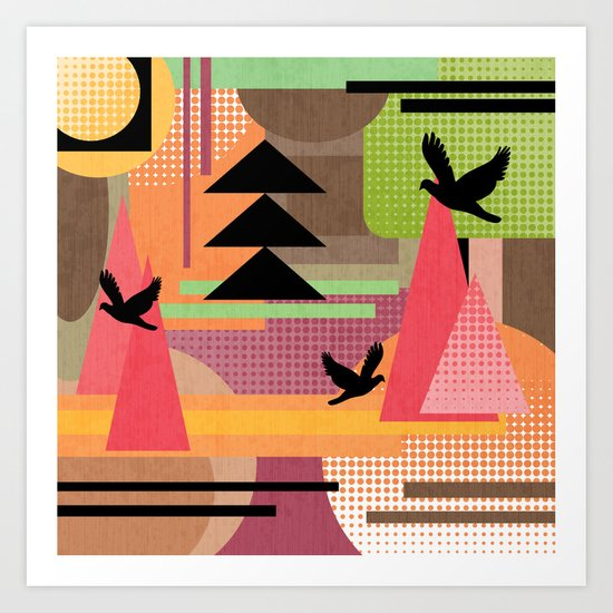 3 Flew Over. Art Print