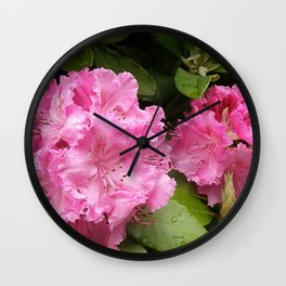 Rhododendron After Rain Wall Clock
