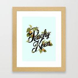 Peachy Keen : Mint Framed Art Print