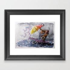 Umbrella Man Framed Art Print