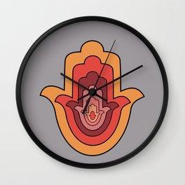 Protection Hand - Hamsa Hand Wall Clock