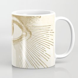 I See You. Vintage Gold Antique Paper Coffee Mug