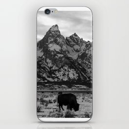 Bison and the Tetons iPhone Skin