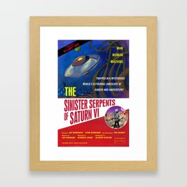 """The Sinister Serpents of Saturn VI"" Movie Poster Framed Art Print"