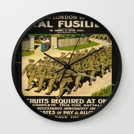 Vintage poster - British Military Wall Clock