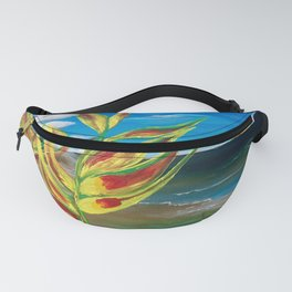 Heliconia Tropical Parrot Plant Take Me There Fanny Pack