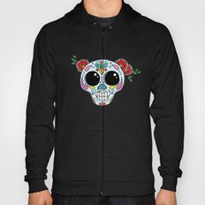 Sugar skull with flowers and bee Hoody