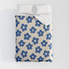Indigo Flower Pattern #indigo #blue #navy #pattern #floral Duvet Cover