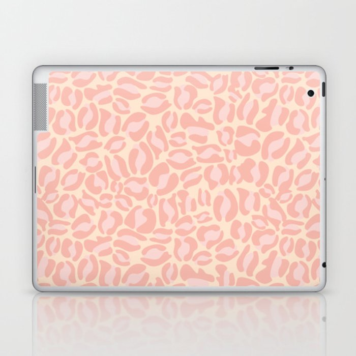 Leopard Print | Pastel Pink Girly Bedroom Cute | Cheetah texture pattern Laptop & iPad Skin
