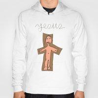 jesus Hoodies featuring Jesus by Mafalda Araújo Jorge