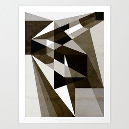 O Caminho - Black and White Art Print