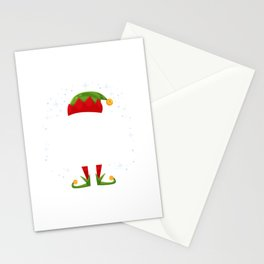 The Sleppy Elf Family Matching Group Christmas Gift Funny Stationery Cards