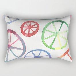 Colorful Wheels Rectangular Pillow