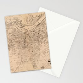 Map Of Louisville 1873 Stationery Cards