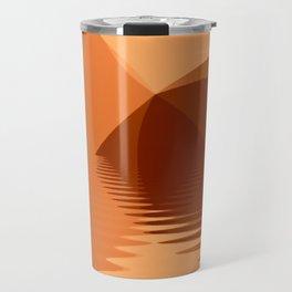 Orange and copper abstract seascape Travel Mug