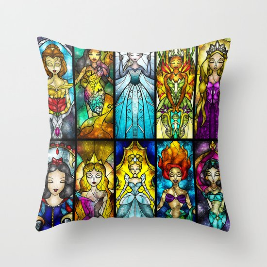 The Princesses Throw Pillow