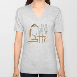 Take Me to your Latte Unisex V-Neck