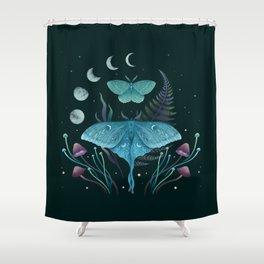 Luna and Emerald Shower Curtain