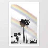 Palm Prisms Three Art Print