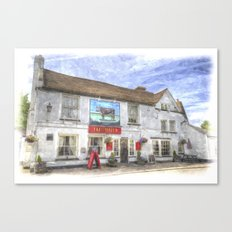 The Bull Pub Theydon Bois Watercolour Canvas Print