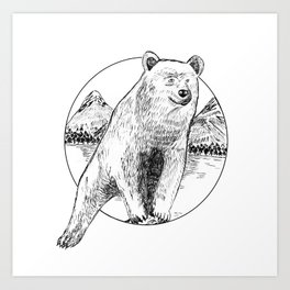 Nature Bear Art Print
