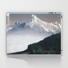 Fairytale Landscape Snow Capped Mountain Lush Green Forest Laptop & iPad Skin