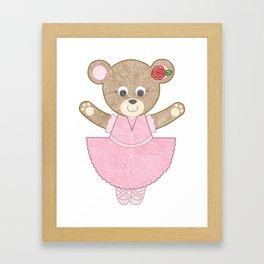 Ballerina Bear Framed Art Print