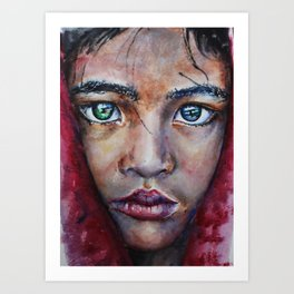 Sad girl portrait Print Art Print